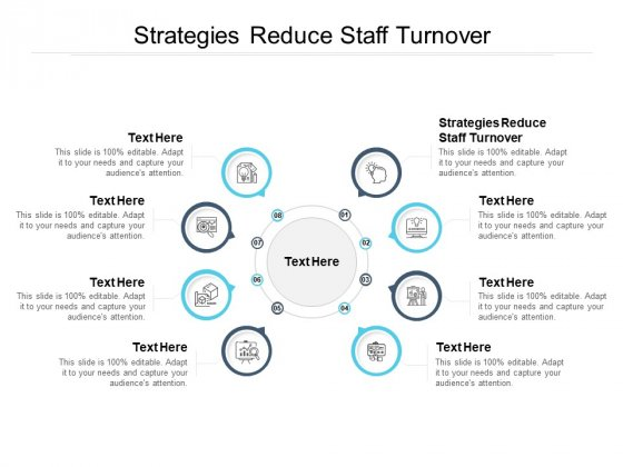 Strategies Reduce Staff Turnover Ppt PowerPoint Presentation Professional Graphics Example Cpb