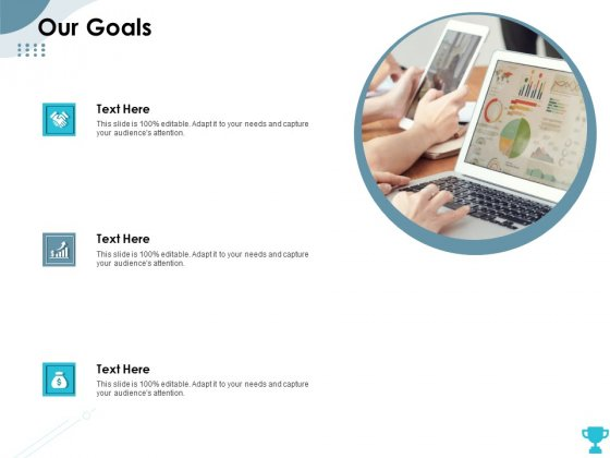 Strategies Take Your Retail Business Ahead Competition Our Goals Icons PDF