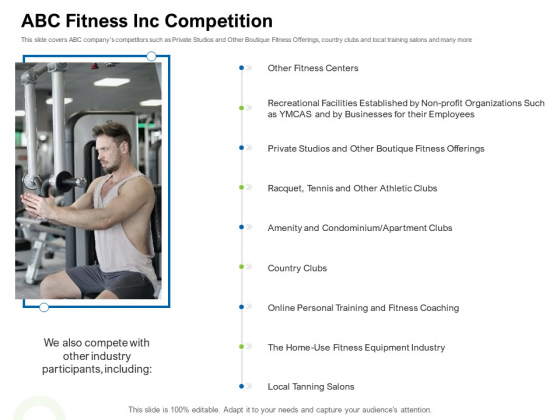 Strategies To Enter Physical Fitness Club Business ABC Fitness Inc Competition Designs PDF