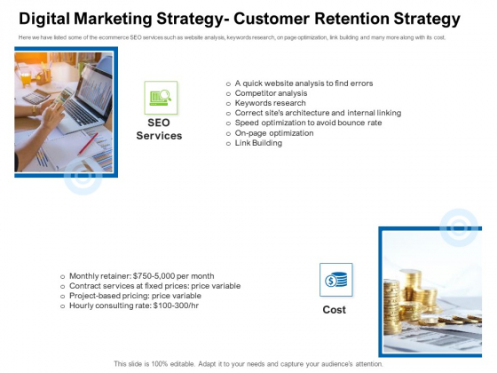 Strategies To Enter Physical Fitness Club Business Digital Marketing Strategy Customer Retention Strategy Download PDF