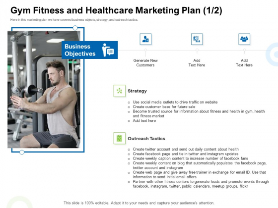 Strategies To Enter Physical Fitness Club Business Gym Fitness And Healthcare Marketing Plan Social Clipart PDF