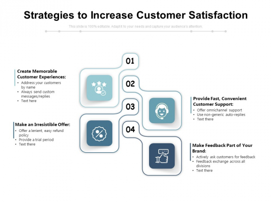 Strategies To Increase Customer Satisfaction Ppt PowerPoint Presentation Layouts Smartart PDF