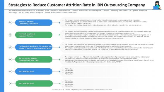 Strategies_To_Reduce_Customer_Attrition_Rate_In_IBN_Outsourcing_Company_Ppt_Professional_Infographics_PDF_Slide_1