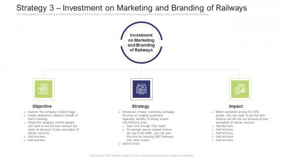Strategy 3 Investment On Marketing And Branding Of Railways Infographics PDF