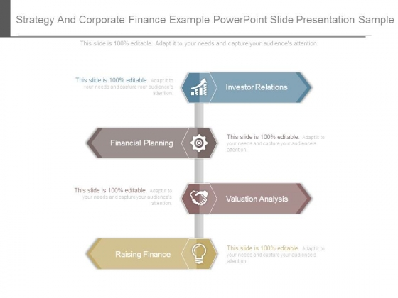 Strategy And Corporate Finance Example Powerpoint Slide Presentation Sample