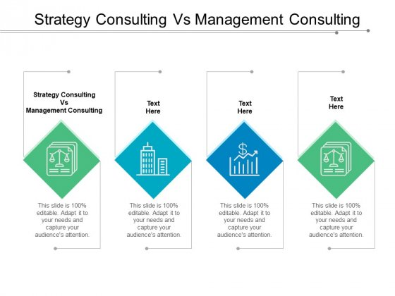 Strategy Consulting Vs Management Consulting Ppt PowerPoint Presentation Slides Tips Cpb