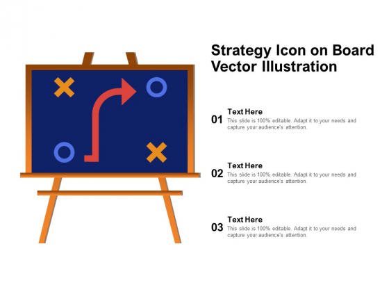 Strategy Icon On Board Vector Illustration Ppt PowerPoint Presentation Model Backgrounds