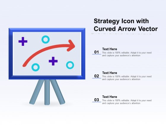 Strategy Icon With Curved Arrow Vector Ppt PowerPoint Presentation Gallery Pictures