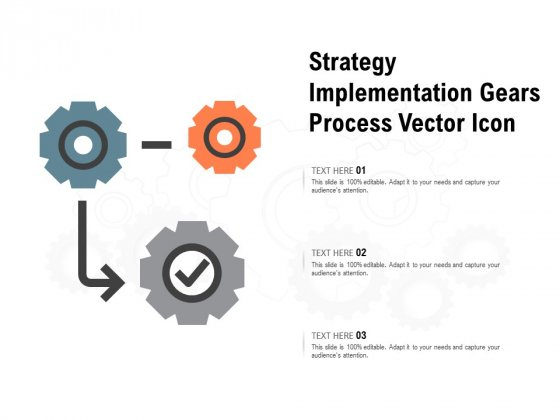 Strategy Implementation Gears Process Vector Icon Ppt PowerPoint Presentation Gallery Microsoft
