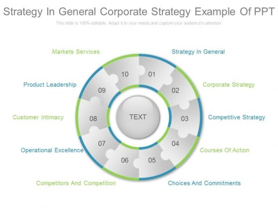 Strategy In General Corporate Strategy Example Of Ppt