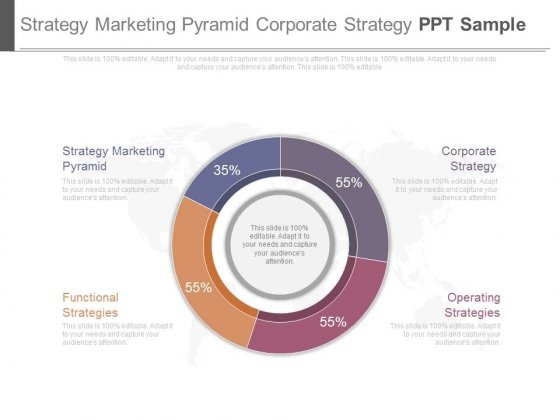 Strategy Marketing Pyramid Corporate Strategy Ppt Sample