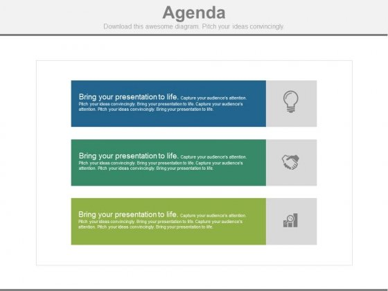 Strategy Meeting Agenda Template Powerpoint Slides