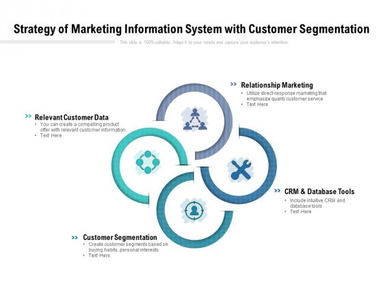 Strategy Of Marketing Information System With Customer Segmentation Ppt PowerPoint Presentation Outline Themes