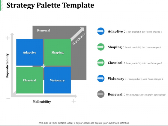 Strategy Palette Template Ppt PowerPoint Presentation Infographics Show