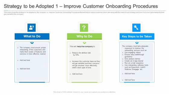 Strategy To Be Adopted 1 Improve Customer Onboarding Procedures Ideas PDF