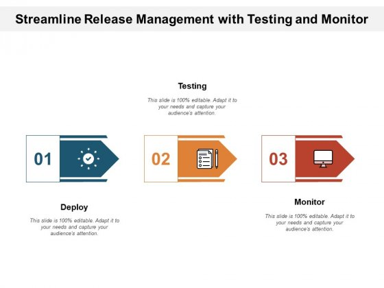 Streamline Release Management With Testing And Monitor Ppt PowerPoint Presentation Gallery Shapes PDF