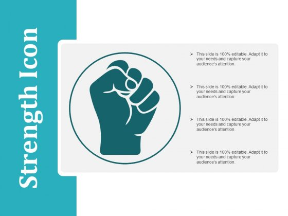Strength Icon Ppt PowerPoint Presentation Professional Mockup