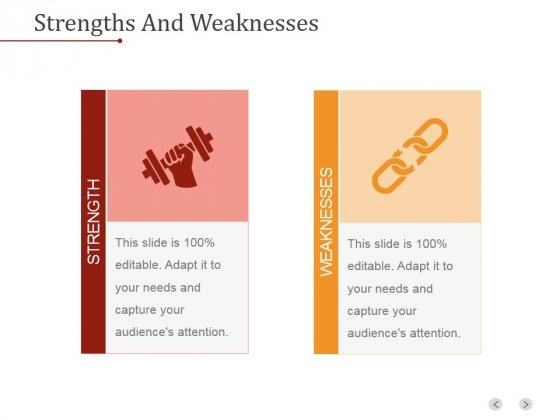 Strengths And Weaknesses Ppt PowerPoint Presentation Deck
