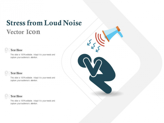 Stress From Loud Noise Vector Icon Ppt PowerPoint Presentation Icon Microsoft