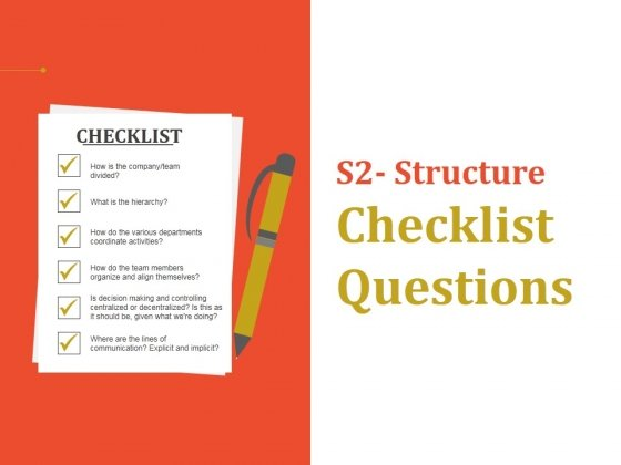 Structure Checklist Questions Ppt PowerPoint Presentation Ideas Graphics