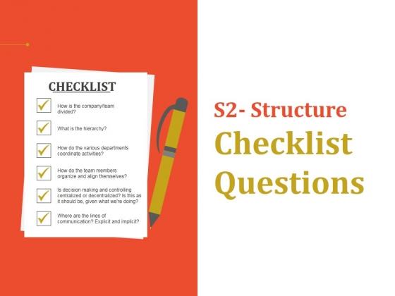 Structure Checklist Questions Ppt PowerPoint Presentation Ideas Graphics