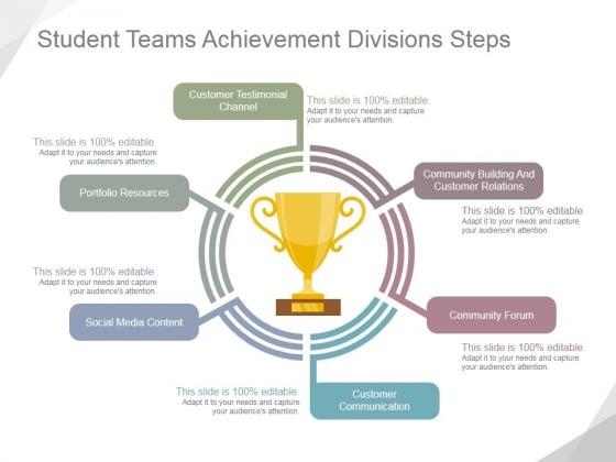 Student Teams Achievement Divisions Steps Ppt PowerPoint Presentation Slide Download