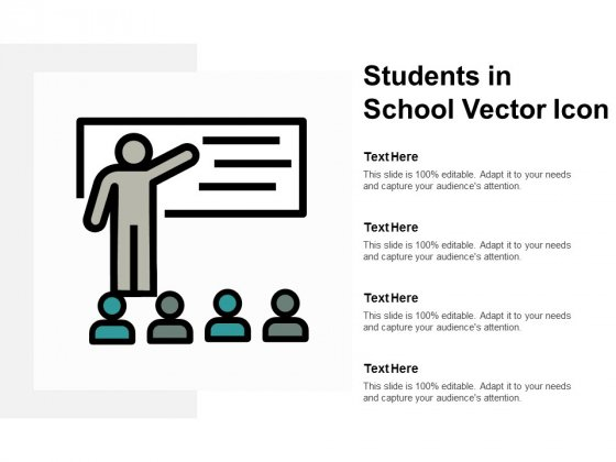 Students In School Vector Icon Ppt PowerPoint Presentation Outline Example Introduction