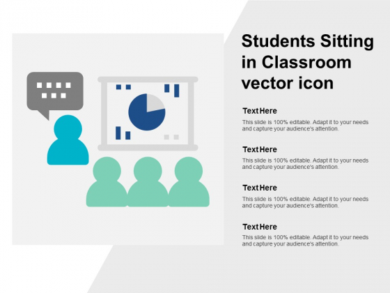 Students Sitting In Classroom Vector Icon Ppt PowerPoint Presentation Styles Outfit