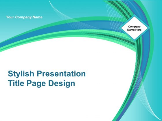 Stylish Presentation Title Page Design Ppt Powerpoint