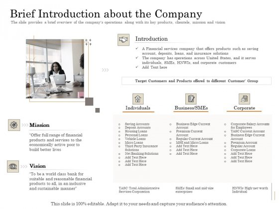 Subordinated_Loan_Funding_Brief_Introduction_About_The_Company_Ppt_Outline_Clipart_PDF_Slide_1