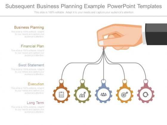 Subsequent Business Planning Example Powerpoint Templates