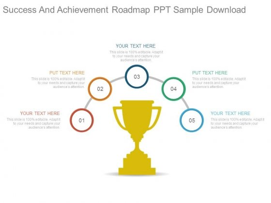 success and achievement roadmap ppt sample download powerpoint
