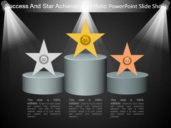 Success And Star Achievers Portfolio Powerpoint Slide Show