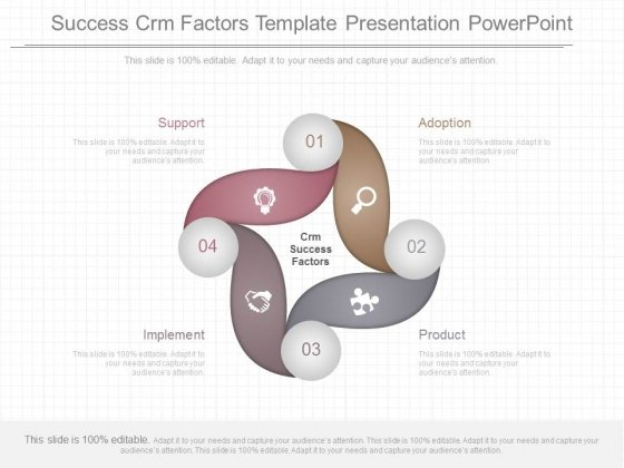 Success Crm Factors Template Presentation Powerpoint