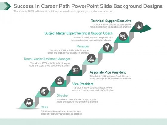 Success In Career Path Powerpoint Slide Background Designs