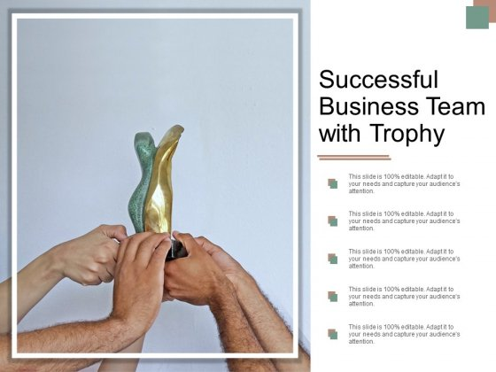 Successful Business Team With Trophy Ppt PowerPoint Presentation Layouts Layout