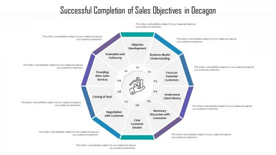 Successful Completion Of Sales Objectives In Decagon Ppt PowerPoint Presentation File Show PDF