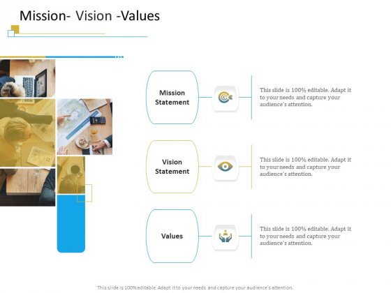 Successful Mobile Strategies For Business Mission Vision Values Diagrams PDF
