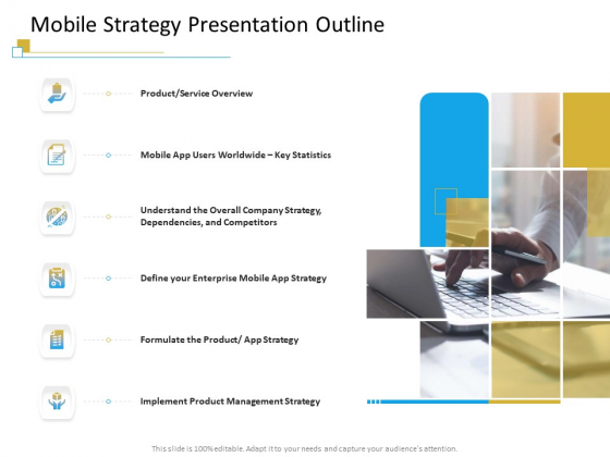 Successful Mobile Strategies For Business Mobile Strategy Presentation Outline Pictures PDF