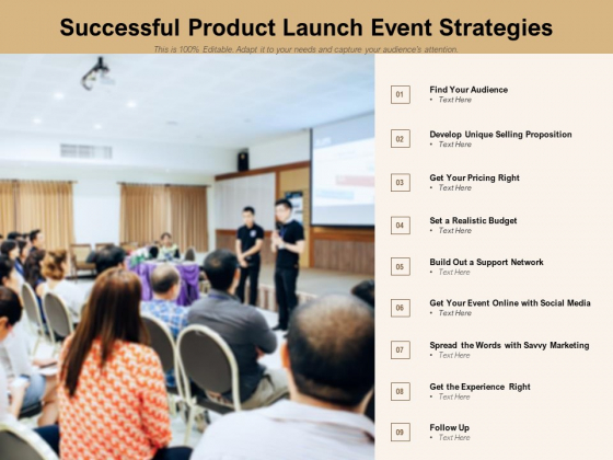 Successful Product Launch Event Strategies Ppt PowerPoint Presentation Model Example File