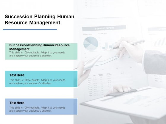 Succession Planning Human Resource Management Ppt PowerPoint Presentation Slides Inspiration Cpb