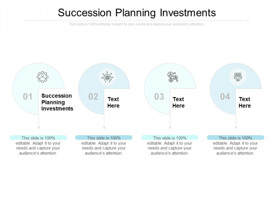 Succession Planning Investments Ppt PowerPoint Presentation Summary Good Cpb