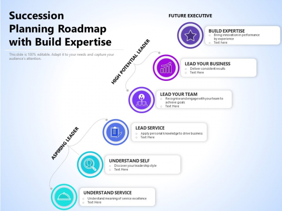 Succession Planning Roadmap With Build Expertise Ppt PowerPoint Presentation Professional Templates PDF