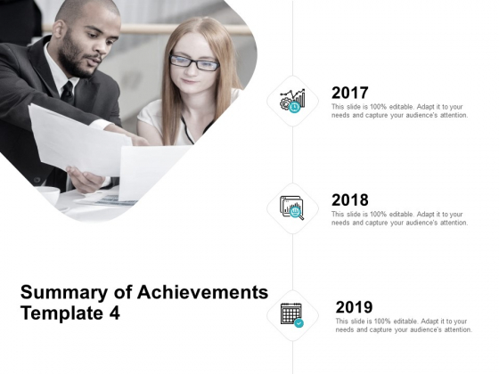 Summary Of Achievements Template Communication Ppt PowerPoint Presentation Portfolio Graphics Example