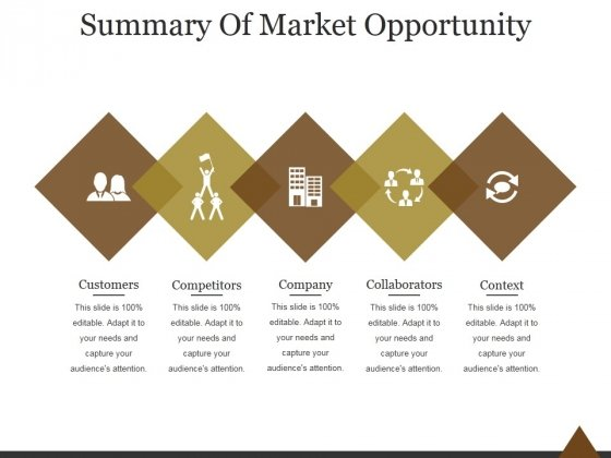 Summary Of Market Opportunity Ppt PowerPoint Presentation Templates