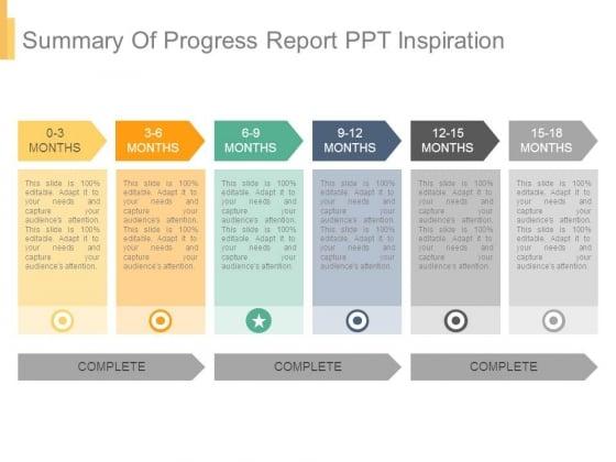 Summary Of Progress Report Ppt Inspiration