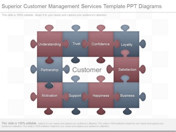 Superior Customer Management Services Template Ppt Diagrams