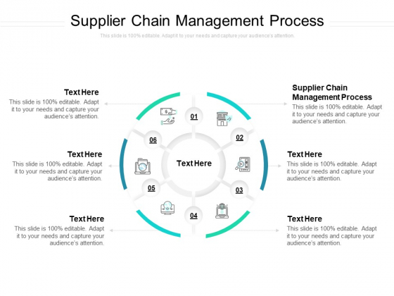 Supplier Chain Management Process Ppt PowerPoint Presentation Pictures Smartart Cpb