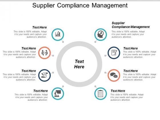 Supplier Compliance Management Ppt PowerPoint Presentation Ideas Portfolio Cpb