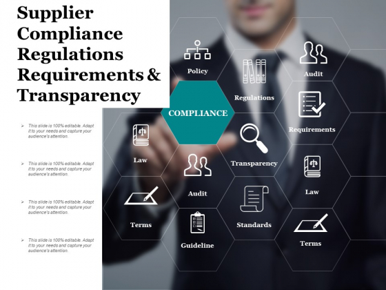 Supplier Compliance Regulations Requirements And Transparency Ppt PowerPoint Presentation Inspiration Brochure